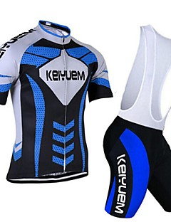 KEIYUEM® Cycling Jersey with Bib Shorts Women's / Men's / Unisex Short Sleeve BikeBreathable / Quick Dry / Dust Proof / Wearable /