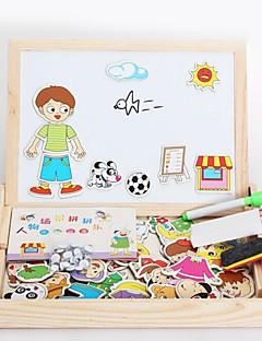 Magnetiske leker Deler MM Magnetiske leker Puslespill Dyr Administrative Leker Kubisk Puslespill som Gave