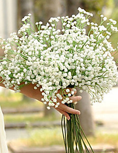 Set of 6 Wedding Babysbreath Flowers Bouquets for Lady (High:60cm,120 Heads/pcs)