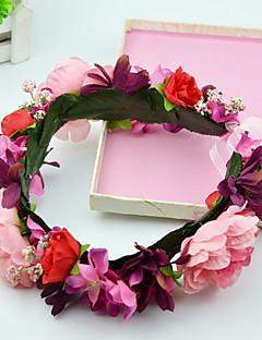 Mulheres / Menina das Flores Tecido Capacete-Casamento / Ocasião Especial / Casual / Ao ar Livre Grinaldas 2 Peças