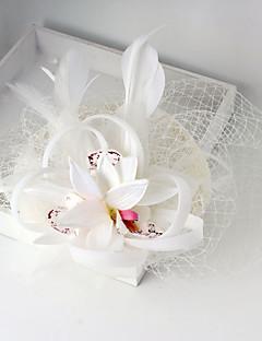 Stof / Net Vrouwen Helm Bruiloft / Speciale gelegenheden Fascinators Bruiloft / Speciale gelegenheden 1 Stuk