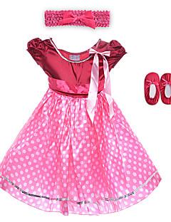 Performance Dresses Children's Performance Spandex / Polyester Flower(s) / Sash/Ribbon / Leopard 2 Pieces Burgundy Performance Sleeveless