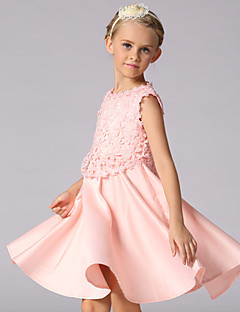 Girl's Pink Dress,Floral Polyester Summer / Spring / Fall