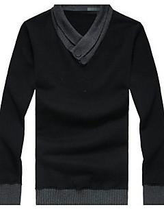 Langermet Pullover Normal Menn Fritid Bomull