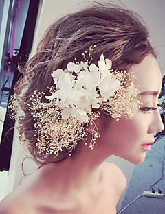 Women's Fabric Headpiece-Wedding / Special Occasion / Outdoor Flowers 1 Piece
