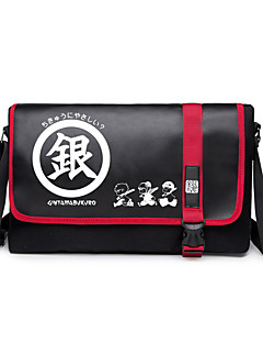 Bag Inspired by Gintama Gintoki Sakata Anime Cosplay Accessories Bag Black Canvas Male / Female