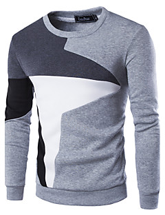 Men's Fashion Slim Stitching Pullover Sweatshirt,Cotton / Polyester Patchwork