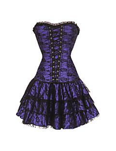 Women Overbust Corset Dress