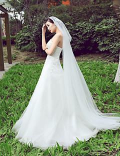 Wedding Veil One-tier Bride Chapel Veils Cut Edge