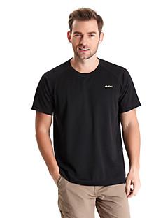 Homens Camiseta de Trilha Secagem Rápida Vestível Respirável Camiseta Blusas para Acampar e Caminhar Pesca Alpinismo Exercício e
