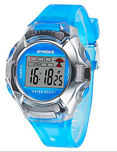 Kids' Sport Watch Wrist watch Digital LCD Calendar Chronograph Water Resistant / Water Proof Alarm Luminous Plastic Band Blue Silver Pink