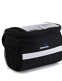 ROSWHEEL® Bike Bag 4.5LBike Handlebar Bag Waterproof Zipper Wearable Moistureproof Shockproof Bicycle Bag PVC 600D Polyester Cycle Bag