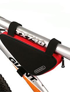 ROSWHEEL® Bolsa de Bicicleta 1.5LBolsa para Quadro de BicicletaZíper á Prova-de-Água / Á Prova de Humidade / Camurça de Vaca á