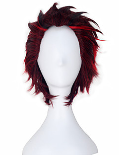 Cosplay Wigs RWBY Cosplay Red Short Anime Cosplay Wigs 28 CM Heat Resistant Fiber Male / Female