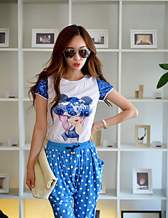 Pink Doll® Mujer Escote Redondo Manga Corta Camiseta Blanco-X15BTS081