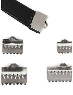 40pcs beadia tampas de aço inoxidável& conectores& friso contas de cobrir para fazer jóias (mistos 4 tamanhos)
