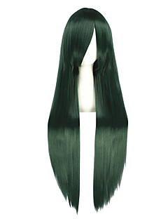 Cosplay Wigs Kagerou Project Mio Akiyama Green Long Anime Cosplay Wigs 100 CM Heat Resistant Fiber Male / Female