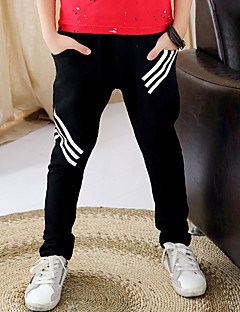 Boy's Casual/Daily Solid Pants,Cotton Spring / Fall Black