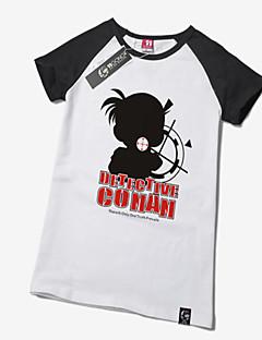 Inspirado por Detective Conan Conan Edogawa Animé Disfraces de cosplay Tops Bottoms Cosplay Estampado Blanco Manga Corta T-Shirt