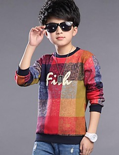 Boy's Cotton / Rayon Tee,Winter / Spring / Fall Solid