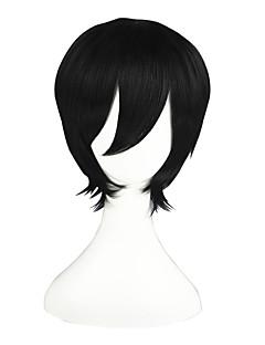 Cosplay Wigs Blue Exorcist Rin Okumura Black Short Anime Cosplay Wigs 32 CM Heat Resistant Fiber Male / Female