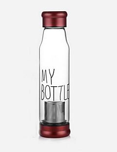 550 ml üveg kulacs / utazási bögrék, tea szűrő benne