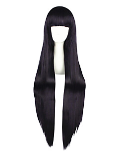 Cosplay Wigs Inu x Boku SS Ririchiyo Shirakiin Purple Long Anime Cosplay Wigs 100 CM Heat Resistant Fiber Male / Female