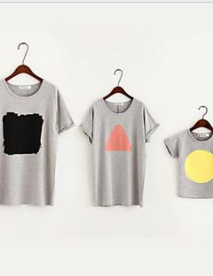 Short Sleeve Cotton Family Clothing Sets,Summer Blouse
