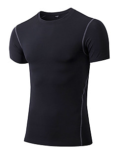 Men's Short Sleeve Running Sweatshirt T-shirt Breathable Quick Dry Compression Sweat-wicking Stretch Spring Summer Fall/Autumn Sports Wear