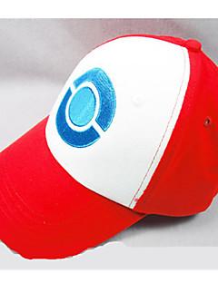 Čepice / klobouk Inspirovaný Pocket Monster Ash Ketchum Anime Cosplay Doplňky Nabírané / postava Biały / Czerwony Len Pánský / Dámský