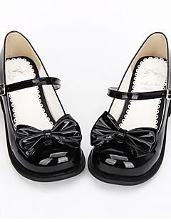 Black PU Leather Sweet Lolita Shoes