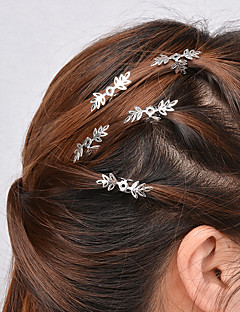 Women Simple Hollow Snowflake Pattern Hairpin Hair Clips Alloy Hair Accessories 5 Piece