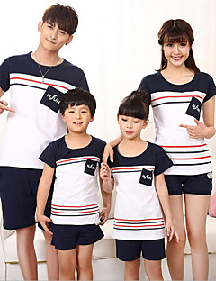 Short Sleeve Cotton Family Clothing Sets,Summer / Spring Tee