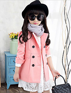 Girl's Casual/Daily Solid Suit & Blazer / Trench Coat,Rayon Spring / Fall Pink / Purple / Yellow
