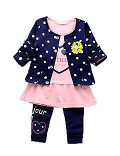 Baby Kleidungs Set-Lässig/Alltäglich Druck Baumwolle Sommer-Blau / Grün / Rosa / Rot