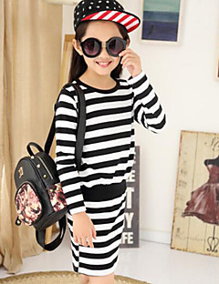 Girl's Casual/Daily Striped Overall & Jumpsuit,Cotton Summer / Fall Black / Red