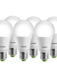7W E26/E27 LED-pallolamput A60(A19) 1 COB 560-630 lm Lämmin valkoinen / Kylmä valkoinen Koristeltu AC 100-240 V 6 kpl