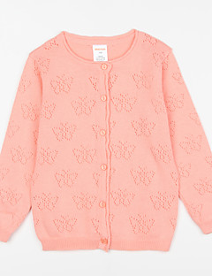 Girl's Casual/Daily Solid Blouse,Cotton Fall Pink / Beige