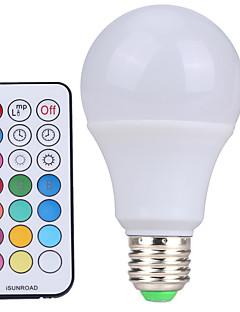 10W E26/E27 LED-pallolamput A60(A19) 12 SMD 600-800 lm Kylmä valkoinen / RGB Himmennettävä / Kauko-ohjattava / KoristeltuAC 85-265 / AC