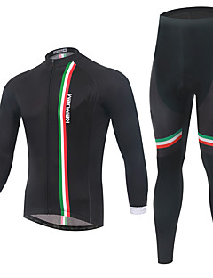 KEIYUEM® Cycling Jersey with Tights Unisex Long Sleeve BikeBreathable / Thermal / Warm / Quick Dry / Wearable / Compression / 3D Pad /
