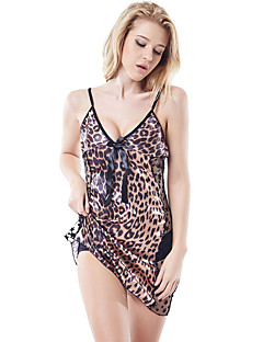 Women's Plus Size Ultra Sexy Nightwear,Nylon / Polyester (with T-back)