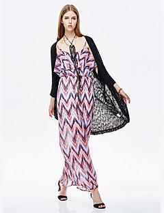 Damen Solide Einfach Lässig/Alltäglich Kimonojacke,Rundhalsausschnitt Sommer ½ Länge Ärmel Lang Acryl
