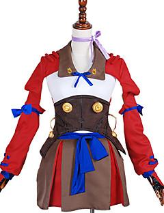 Inspirado por Kabaneri da fortaleza de Ferro Nameless Actress Anime Fantasias de Cosplay Ternos de Cosplay Cor Única VermelhoCapa /