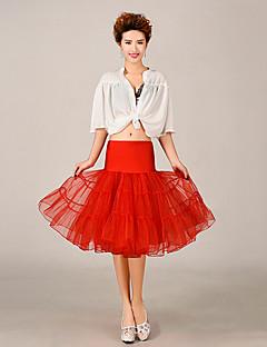 תחתונית  סליפ שמלת נשף באורך ברך 3 רשתות בד טול פוליאסטר לבן שחור אדום כחול סגול ורוד צהוב כתום