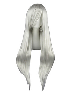 Cosplay Wigs Final Fantasy Sephiroth Silver Long Anime Cosplay Wigs 80 CM Heat Resistant Fiber Male / Female