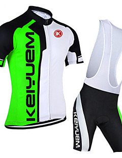KEIYUEM® Kerékpáros dzsörzé kantáros nadrággal Uniszex Rövid ujjú BikeLégáteresztő / Gyors szárítás / Porbiztos / Viselhető / Tömörítés /