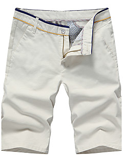 Men's Low Rise Micro-elastic Chinos Shorts Pants,Simple Street chic Active Slim Solid