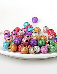 beadia 10mm akril gyöngyök, arany, ezüst műanyag gyöngyök 28g (aprx.50pcs)