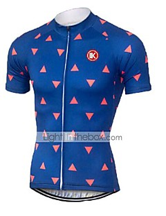 KEIYUEM® Cycling Jersey Unisex Short Sleeve BikeBreathable / Quick Dry / Ultraviolet Resistant / Front Zipper / Antistatic / Back Pocket