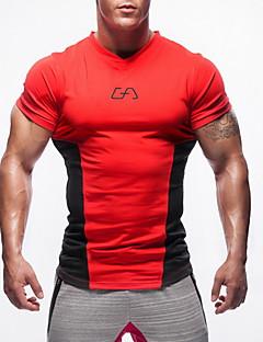 Muškarci Kratkih rukava Trčanje Majice Udobnost Zaštita od sunca Proljeće Ljeto Jesen Sportska odjeća Trčanje Pamuk Chinlon Slim
